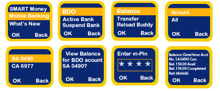 BDO-Smart SMS balance inquiry