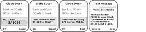 BPI-Globe SMS bank to GCash 2