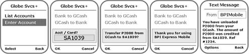 BPI-Globe SMS GCash to bank 2