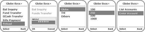 BPI-Globe SMS prepaid reload 1