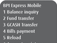 BPI mobile banking on Globe (USSD-based)