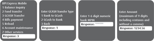 BPI-Globe SMS bank to GCash 1