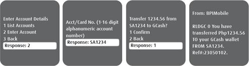 BPI-Globe SMS bank to GCash 2