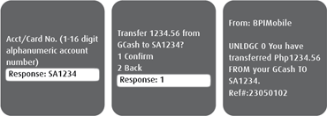 BPI-Globe USSD GCash to bank 3