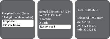 BPI-Globe USSD prepaid reload 3