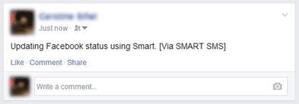Facebook SMS status 1