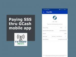 Pay SSS contributions thru GCash mobile app