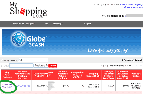 GCash Amex My-ShoppingBox