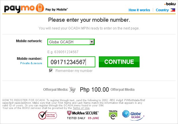 GCash Paymo screenshot