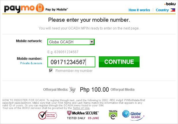 GCash Paymo screenshot