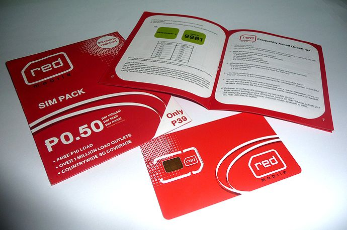 Red Mobile SIM pack