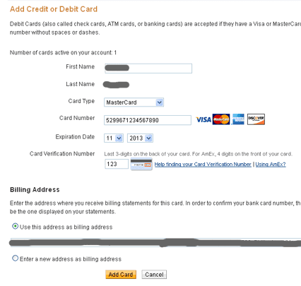 Paypal add credit/debit card